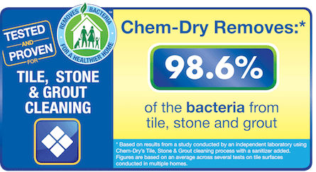 Old Fort Chem-Dry removes 98.6% of the bacteria from stone tile and grout in Fort Smith AR