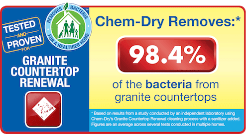 Old Fort Chem-Dry removes 98.4% of the bacteria from granite countertops in Fort Smith AR
