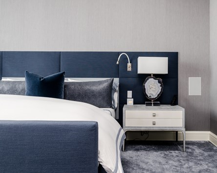 blue bedroom decor in Fort Smith AR