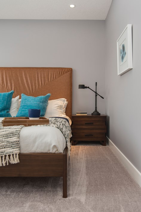 brown decor in bedroom in Fort Smith aR