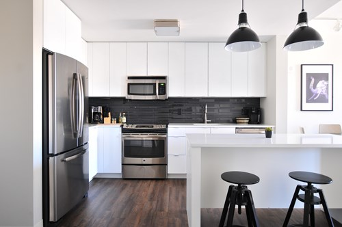 black accents in For Smith AR kitchen